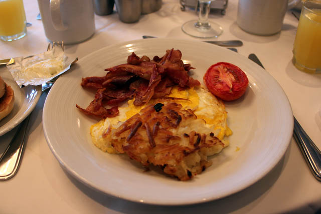 Voyager Of The Seas: The Classic with bacon and scrambled eggs